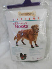 BRAND NEW FASHION PET EXTREME ALL WEATHER DOG/PUPPY BOOTS SIZE XL RED~BLACK~GRAY