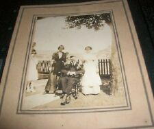 Old Antique Vintage Photograph Group of People Man in Rocking Chair Rocker