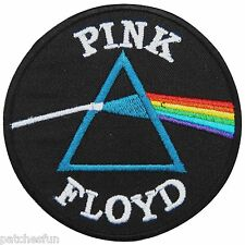 Pink Floyd Dark Side Of The Moon Sew Iron on Patch Embroidered Vest Jacket M0012