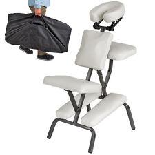 Chaise de massage de traitement pliante avec rembourrage épais tattoo blanc