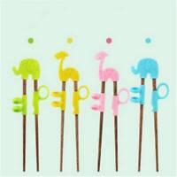 Children Kids Cartoon Training Help Learning Beginner Chopsticks HS
