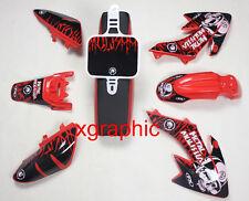 Red Plastics Decals Stickers Tall Seat Fr Honda CRF50 XR50 Thumpstar Stomp SSR 4