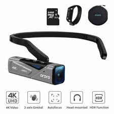 Vlog Camera for YouTube Videos Ordro EP7 4K WiFi Mini Head Wearable Camcorder