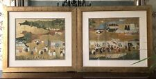 Lithograph After Japanese Screen 'Arrival of a Portuguese Ship' Hand Finished