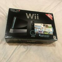 Nintendo Wii With Wii Sports + Wii Sports Resort Black Console CIB Excellent