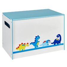 Boites et coffres à jouets bleus en bois pour enfant