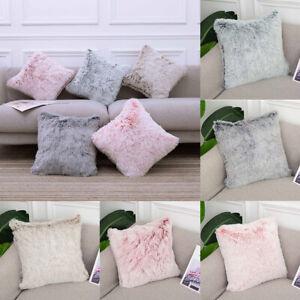 1PC 45x45/30x50cm Pillow Case Plush Fluffy Cushion Cover Decor Car Sofa Solid