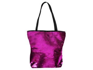 Wende Pailletten Taschen Shopper Strandtasche Handtasche pink versch. Farben