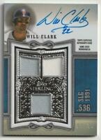 MLB 2020 Will Clark TOPPS STERLING Swings Relic Auto San Francisco Giants 04/10