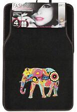 Sumex Colourful Fun Asian Indian Elephant Universal Car Van Carpet Mat Set -4pce