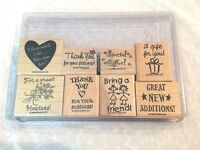 Stampin Up, Business/Work, 8 Piece Set, 1999, Mint in Case, Retired, Winter, NEW