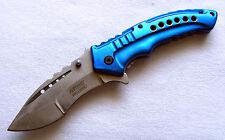 Ballistic Lochdesign blau MTech Taschenmesser Pocket Knife