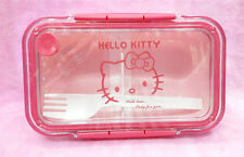 Hello Kitty Outside Bento Microwave Oven Lunch Box Pink For Girls Kids-Rectangle