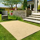 Yellow Gold Outdoor Garden Rug Patio Area Rain Resistant All Seasons Summer Mats