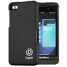 Bugatti Clip On Cover Hard Plastic Case Black Matte Blackberry Z10 Snap on Z
