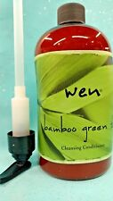 WEN Chaz Dean BAMBOO GREEN TEA Hair Cleansing Conditioner Shampoo + PUMP 16 oz!!