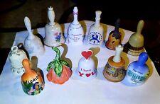 Bells Ceramic Porcelain Pottery Vintage Collectible Rare Souvenir Collection