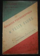 Les voyages de Félix Faure 1895 - Sathonay Normandie Rouen Le Havre
