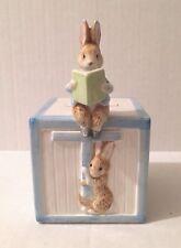 Schmid Beatrix Potter Peter Rabbit Cottontail Baby Boy Bank Easter 1990