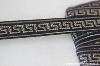 10 MT NASTRO DI PASSAMANERIA ANNI '70 PER BORDURA VINTAGE RIBBON GOLD GREEK KEY