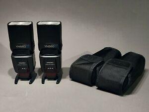 2x YONGNUO YN-560 IV Wireless Speedlites Canon Nikon