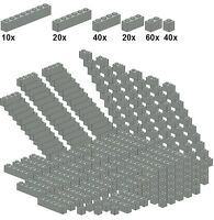 Lego - Bricksy's Bascis - Lightgray - A48 - Basicsteine altes hellgrau - schmal
