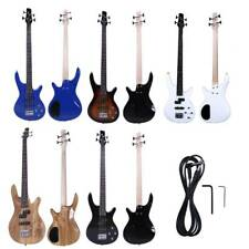 New 6 Colors 4 Strings Right Handed Ib Electric Bass Guitar with Tool