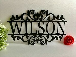 Personalized Family Last Any Name Signs Laser Cut Acrylic Metal Custom Outdoor