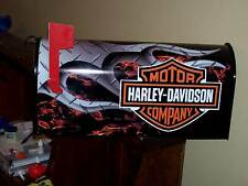 "HARLEY DAVIDSON MOTORCYCLE MAILBOX FLAMED ""Postmaster Approved"" INDIAN VICTORY"