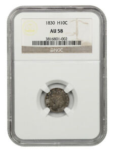 1830 H10c NGC AU58 - Early Half Dimes - Popular Type Coin