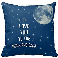 I LOVE YOU TO THE MOON AND BACK Throw Pillow Case Cushion Cover Home Decorative
