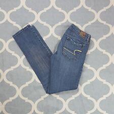 American Eagle Skinny Stretch Jeans Womens Light Medium wash Cotton Sz 2R Used