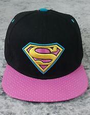 Black Pink Superman hiphop Snapback Adjustable baseball cap flat hat Cosplay