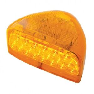 Pair of 31 LED Peterbilt 379 359 Turn Signal Light - Amber LED/Amber Lens RH LH