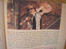 CLAUDIO BAGLIONI FOTO ARTICOLO SU TOPOLINO 1970