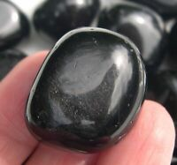 1 Black Obsidian Crystal Pocket Stone Reiki Wicca Protection Grounding 25853E