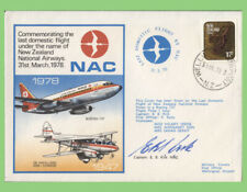 New Zealand 1978 NAC, Last Domestic Flight, flown & signed (Captain) cover
