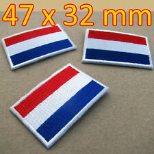 1 x Netherlands Patch Flag Dutch Embroidered Iron On Nederland Holland Amsterdam