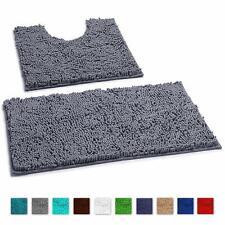 Bathroom Rugs By LuxUrux extra-Soft Plush Non-Slip Thick Shower Bath Mat set