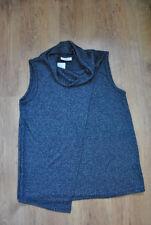 Damen Strick Pullunder blau Gr. 40/42 Pulli Pullover Ärmellos Wickel Optik