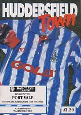 HUDDERSFIELD TOWN v PORT VALE 92-93 LEAGUE MATCH