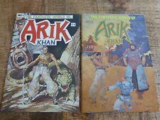 Fantastic World of Arik Khan #1 NM 9.6 + #2 NM 9.2 Andromeda Comics 1977
