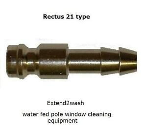 Rectus 21 type quick connect microbore minibore male 5mm 6mm or 8mm hosetail
