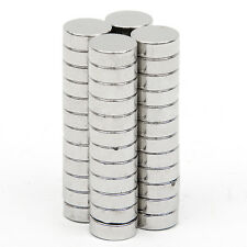 50Pcs 8 x 3mm Disc Round Rare Earth Neodymium Strongest Magnetic N52 Magnets