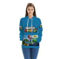 Anime Super Mario 3D Hoodie Men Women Kids Casual Pullover Sweatshirt Tops