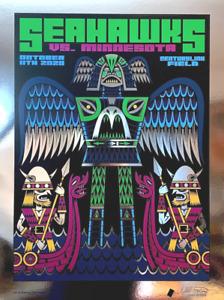 Seattle Seahawks Gameday Poster vs Minnesota Vikings 2020 Platinum FOIL x/50