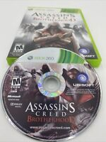 Assassin's Creed: Brotherhood (Microsoft Xbox 360, 2010) w/Manual