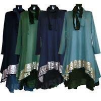 Ladies Italian Lagenlook Quirky Long Midi Dress Women 3 Piece layering Boho Top