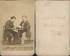 Alexandre Fanelli, Paris, messieurs prenant un verre Vintage CDV albumen carte d