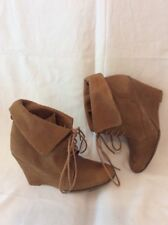 Zara Basic Brown Ankle Leather Boots Size 38